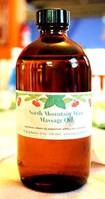 North Mountain Mint Massage Oil