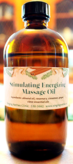 Stimulating Energizing Massage Oil